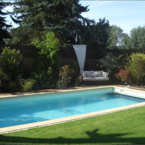 Referenz eines Folienbeckens im Garten von Pro Pool