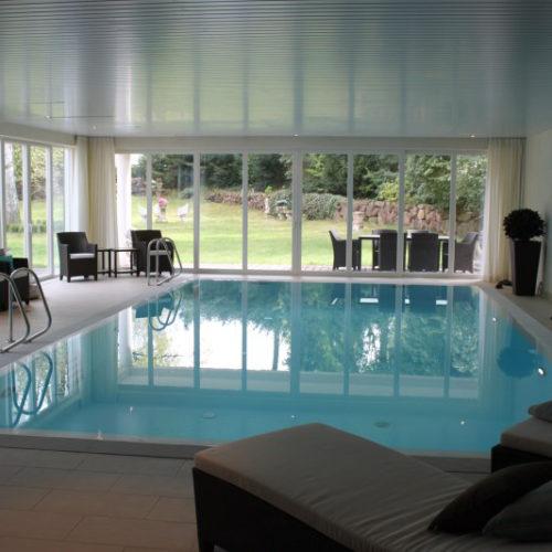 Hallenbad von Pro Pool mit Blick in den Garten
