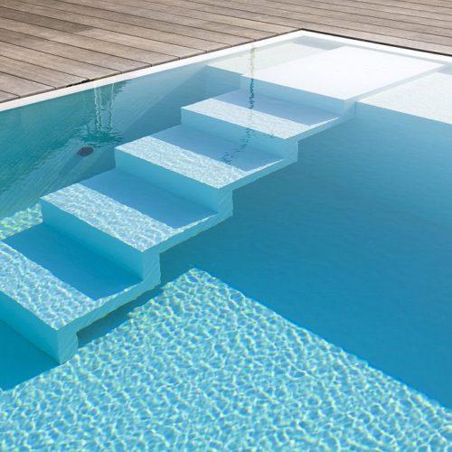 pool mit flacher eingangstreppe
