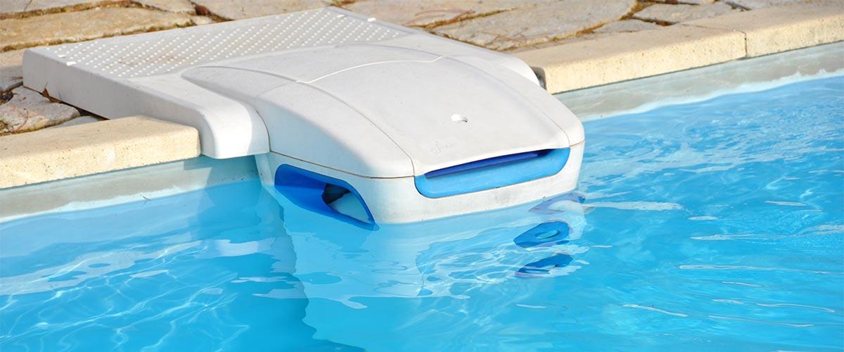 Filterpumpe zum Reinigen eines Pools.